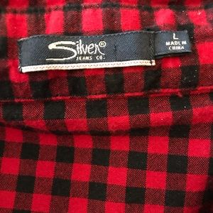 Silver Jeans Shirts - Silver Jeans, Men's Shirt, Acid Washed Plaid